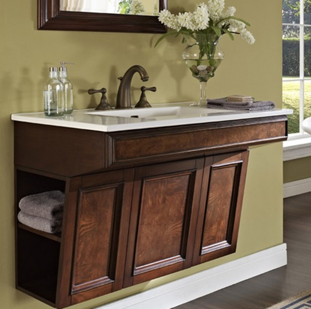 Fairmont newhaven 36 wall mount vanity only traditional bathroom vanities and sink for Wall mounted bathroom vanity cabinet only