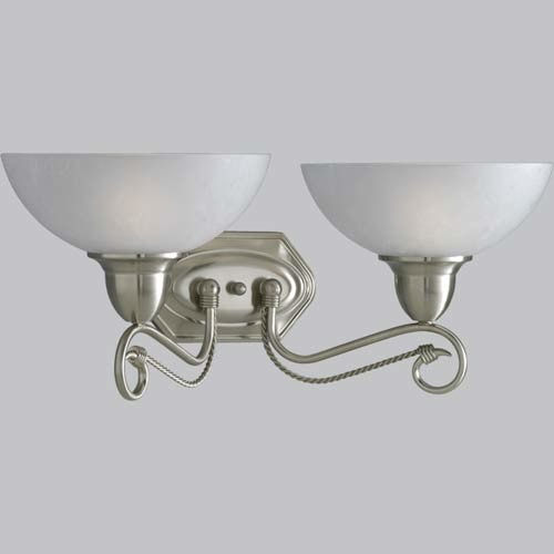 P3270-09: Pavilion Brushed Nickel Two-Light Bath Fixture modern-bathroom-vanity-lighting