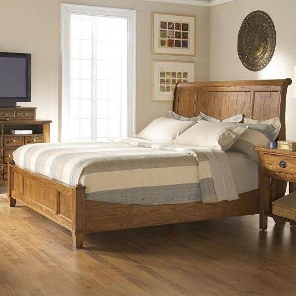 broyhill sleigh bed king 3