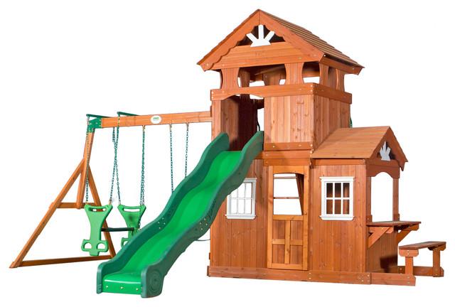 backyard discovery shenandoah all cedar wood playset traditional kids