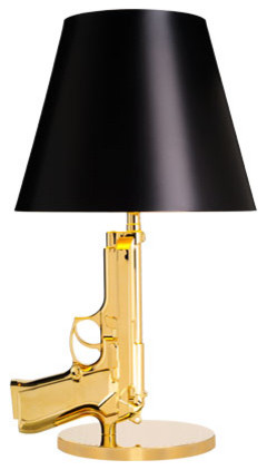 Bedside Gun Table Lamp Glossy Eclectic Table Lamps