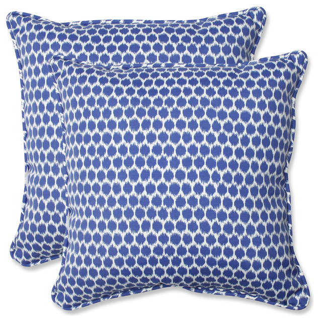 Seeing Spots 185 Throw Pillow Set of 2 Navy