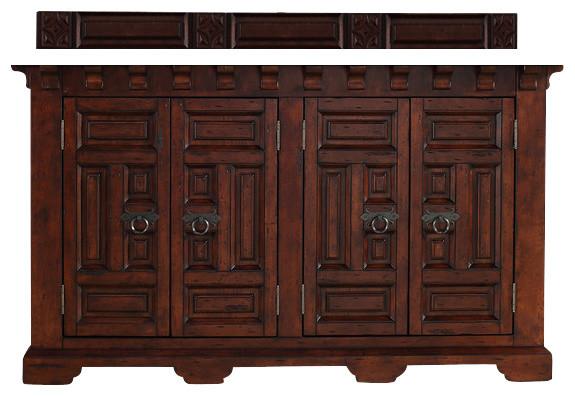 """Mediterranean Bathroom Sinks: Monterey 60"""" Double Vanity Cabinet"""
