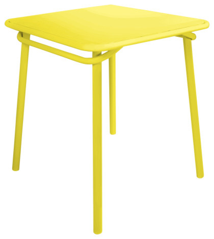 Heva table de jardin jaune contemporain table de for Table exterieur jaune