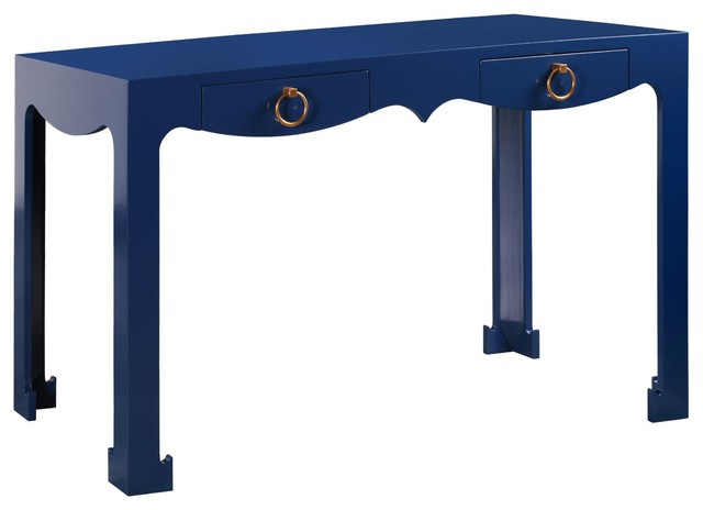 Bungalow 5 jacqui navy console desk contemporary for Bungalow 5 desk
