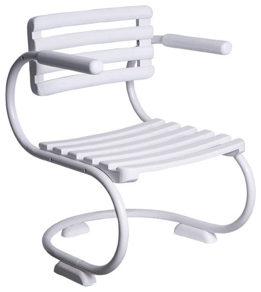 White Patio Chair Modern Outdoor Lounge Chairs by Wisteria
