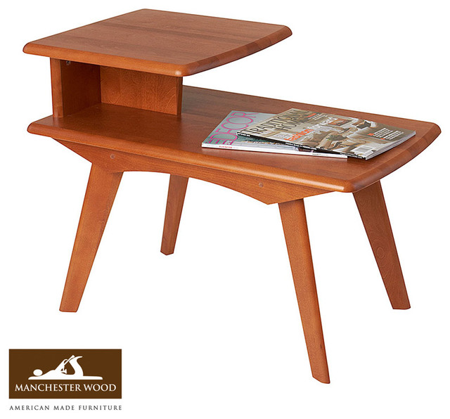 Mid Century Coffee Table And End Tables: Retro 2 Tier End Table By Manchester Wood