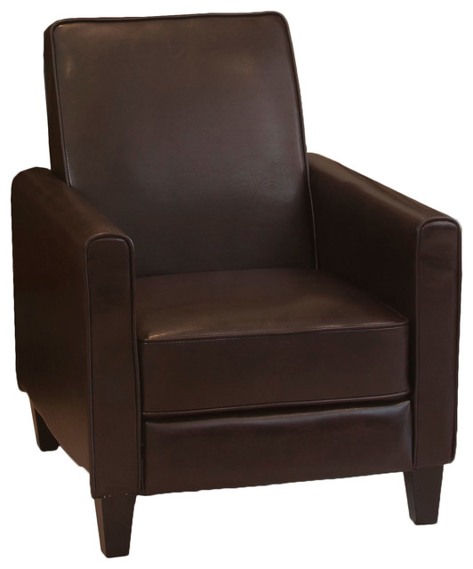 Lucas Modern Design Recliner Club Chair Brown Recliner