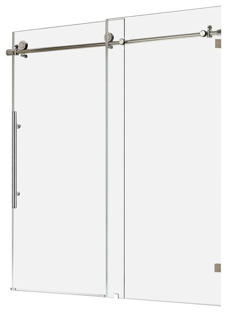 glass frameless sliding shower door chrome contemporary shower doors
