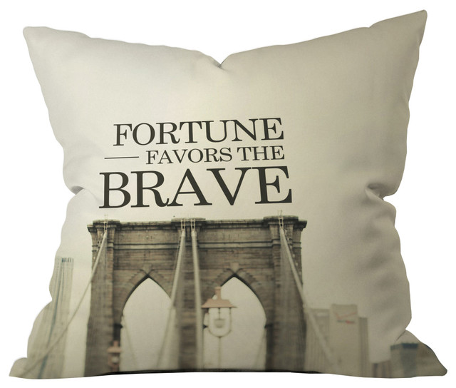 Bridge Bravery Throw Pillow - Industrial - Scatter Cushions - by Dot & Bo