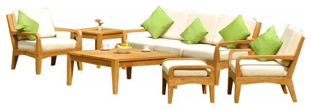 Piece noida sofa set sunbrella with natural