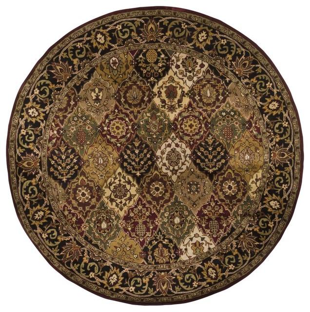 Contemporary dream round 7 39 9 round multi red area rug for Round contemporary area rugs