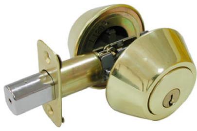Double Cylinder Deadbolt Polished Brass Finish - Traditional - Door Locks - by Midland Hardware