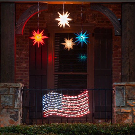 Patriotic String Lights Outdoor : LED Rope Light American Flag Motif - Contemporary - Outdoor Rope And String Lights - atlanta ...