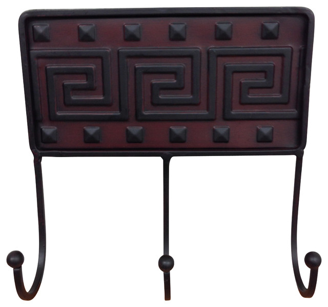 Greek Key Metal Wall Rack - Traditional - Wall Hooks - by Wilco Home