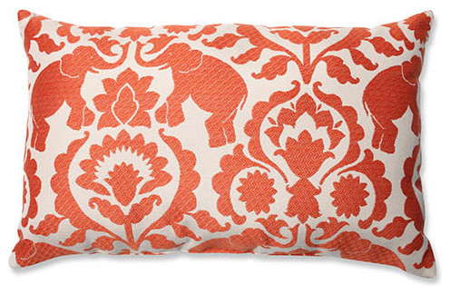 Eclectic Mix Of Pillows : Babar Spice Red Rectangular Throw Pillow - Eclectic - Bed Pillows - by Bellacor