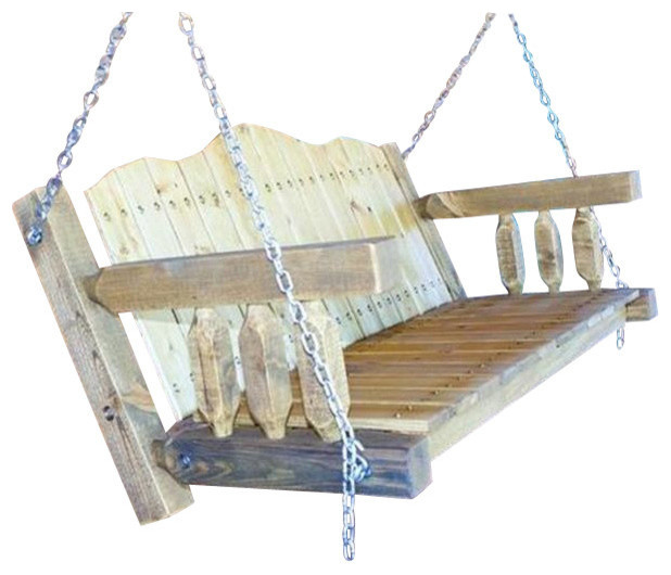 Montana woodworks homestead collection swing seat with for Farmhouse porch swing