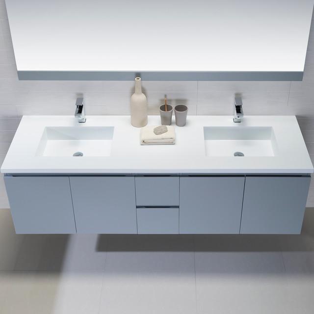 Wall mounted bathroom vanities modern bathroom for Bathroom consoles and vanities