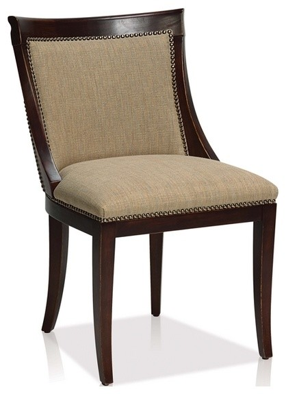 comfortable fabric transitional side chair transitional dining chairs
