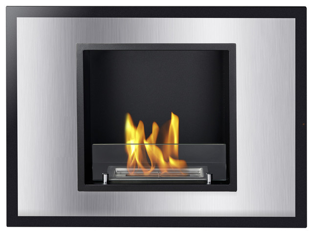 Vienna Recessed Ventless Ethanol Fireplace Modern Fireplaces By Ignis