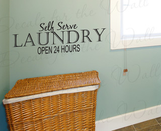 wall decal quote vinyl sticker art self serve laundry