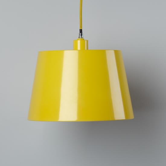 Pop Of Color Pendant Shade, Yellow Rectangle