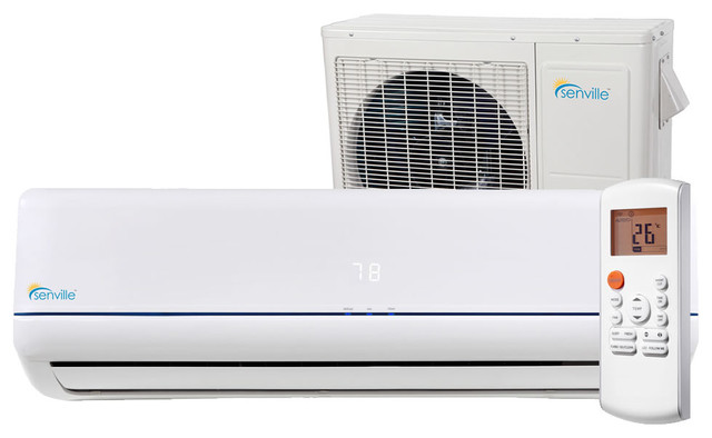 Senville AURA Mini Split Air Conditioner With Ductless ...