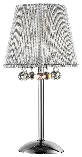 27 5 inch dreamer crystal table lamp contemporary for 10 inch table lamps