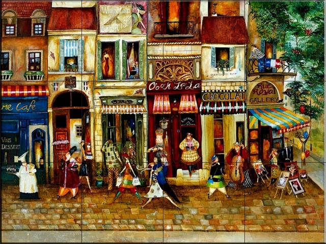 Jennifer Garant Tile Murals Little Paris French Tile