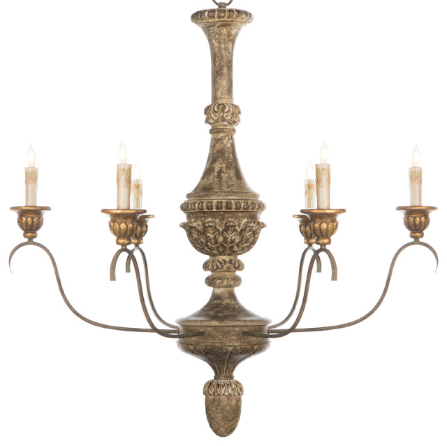 Remmy French Country Antique Gold Chandelier Traditional