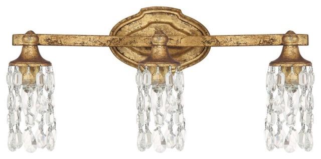 Antique Gold Vanity Lights : Capital Lighting 8523AG-CR Blakely 3 Light Bath Vanity Light, Antique Gold - Contemporary ...