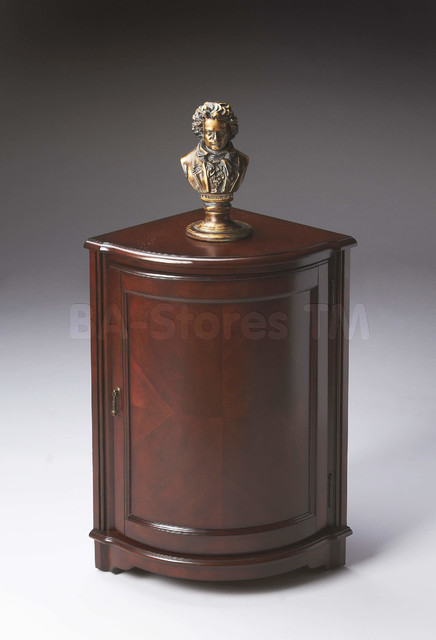 Plantation Cherry Corner Cabinet - Traditional - Buffets And Sideboards - new york - by BA ...