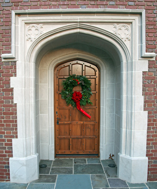 English Front Door With Stone Surround Traditional