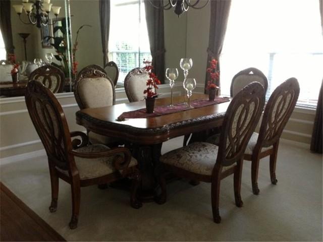 hemispheres dining room set austin traditional dining