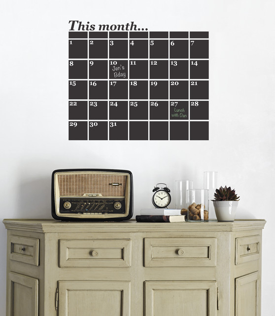 monthly planner vinyl wall sticker contemporary wall