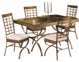 5 piece metal and glass rectangular table dining table set for 10 piece kitchen table set