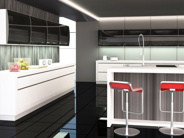 glass kitchen cabinet doors contemporary