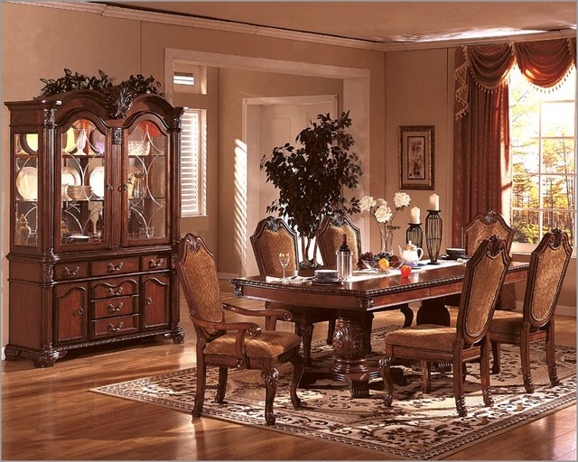 mcferran home furnishings formal dining room set in