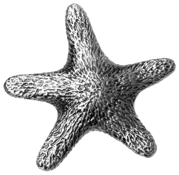 Star Fish Knob - Beach Style - Cabinet And Drawer Knobs - by Knobbery Dot Com LLC