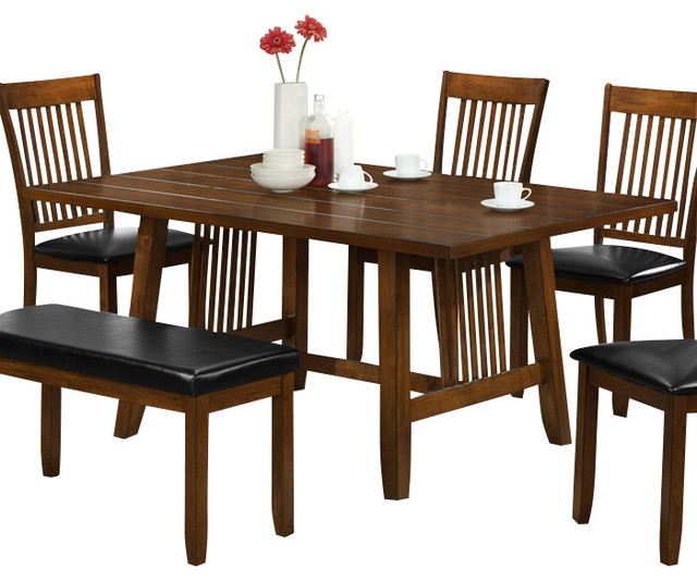 omaha dining table in walnut brown traditional dining tables