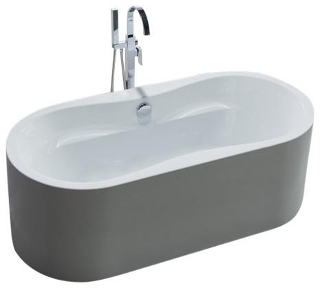 66 White Acrylic Tub Bathroom Sink Tap Parts By Legion Furniture