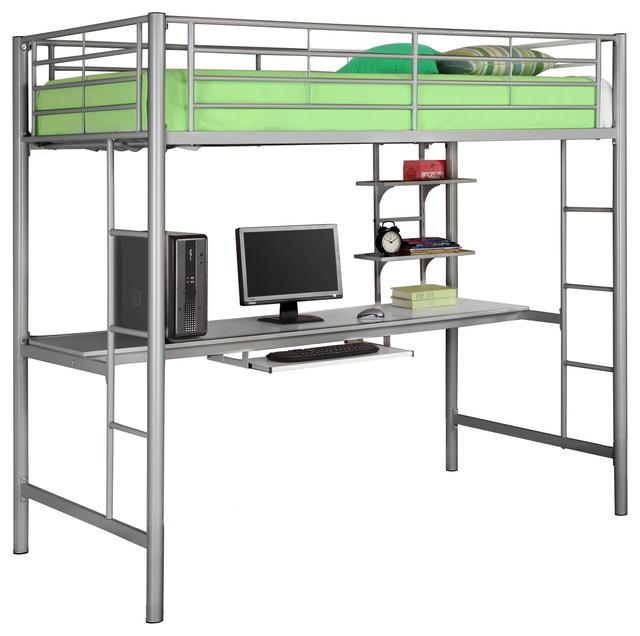 bunk bed silver x lszotb contemporary loft beds by arcadian
