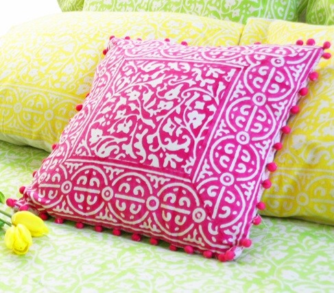 Pink Floral Decorative Pillows : Decorative Pillow Cover - Pink Floral - Mediterranean - Decorative Pillows - by store.tilonia.com