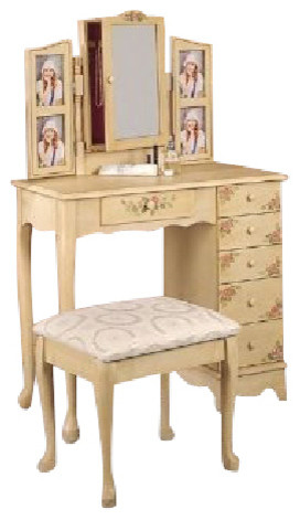 2 piece vanity set ivory by coaster modern bedroom
