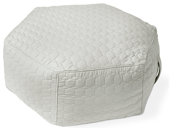 Gus Modern Pillows : Hex Ottoman NEW by Gus Modern, Geo Arctic - Contemporary - Floor Pillows And Poufs - other metro ...