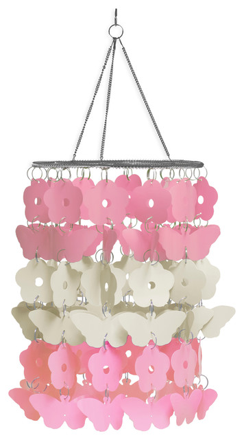 Butterfly Chandelier Contemporary Kids Decor by WallPops