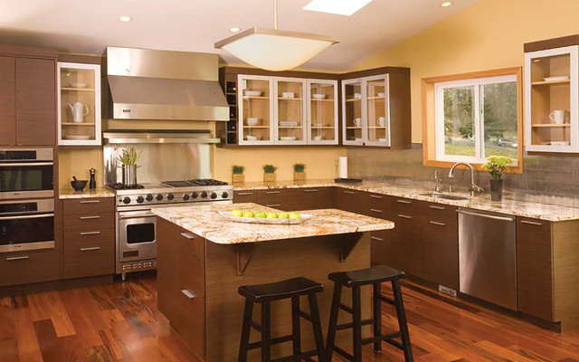 Bellmont cabinet co modern kitchen seattle by for Modern kitchen cabinets seattle