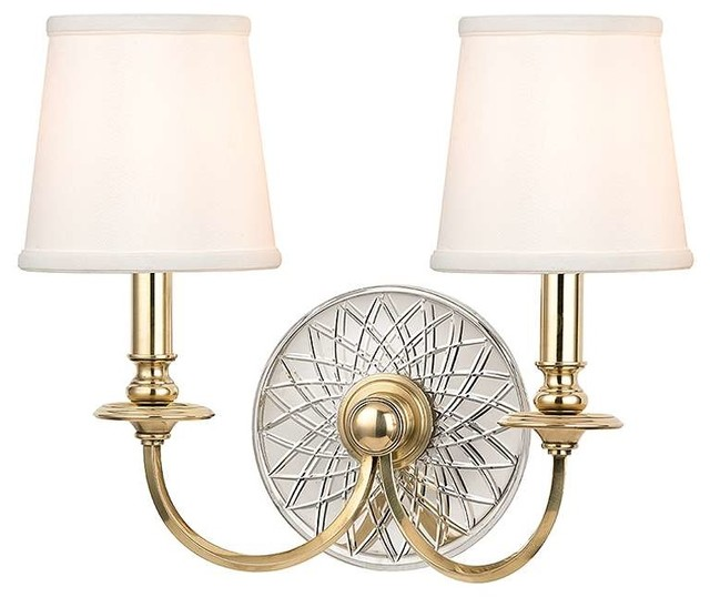 Aged Brass Wall Sconces : Hudson Valley Lighting 1882-AGB Wall Sconce in Aged Brass - Transitional - Wall Sconces - by ...