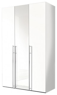 kleiderschrank murray iv 150x236 wei bauhaus look. Black Bedroom Furniture Sets. Home Design Ideas