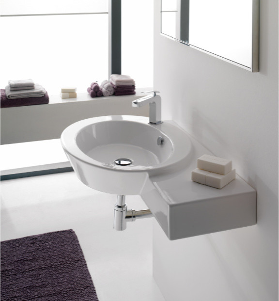 Counter Mounted Sink : ... Mounted or Vessel Sink with Counter Space contemporary-bathroom-sinks
